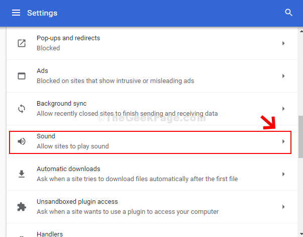 Site Settings Sound