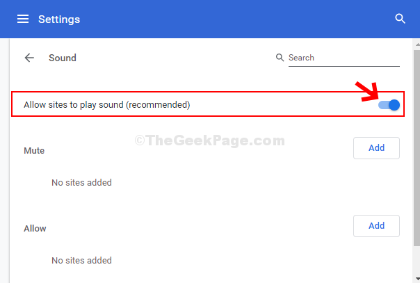 Sound Turn On Allow Sites To Play Sound