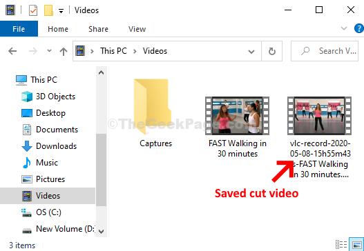 Video Folder Saved Cut Videos