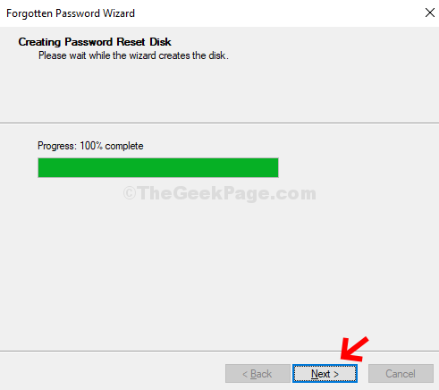 Wait For Wizard To Complete Creating The Disk Next