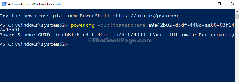 Windows Powershell Run Command Enter