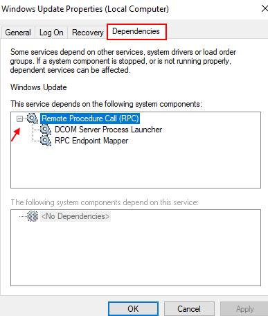 Dependencies Windows Update