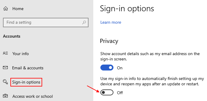 Disable Auto Finish Setting Up Device
