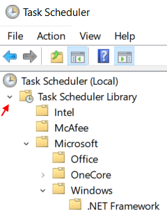 Expand Task Scheduler