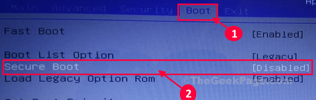 Secure Boot Enter