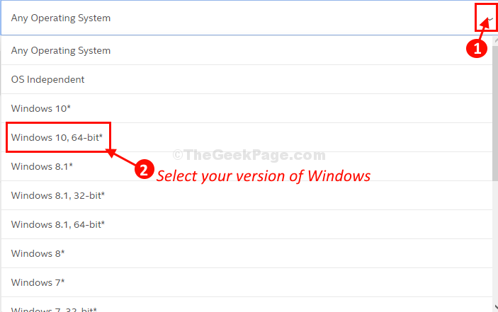 Select Windows 10 Version