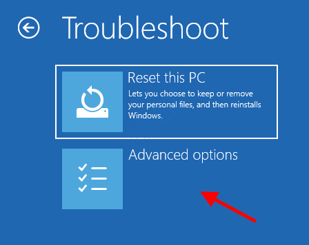 Troubleshoot Reset This Pc Advanced Options Startup Repair 1