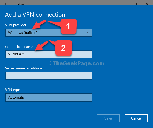 Add A Vpn Connection Vpn Provider Windows (built In) Connection Name Vpnbook