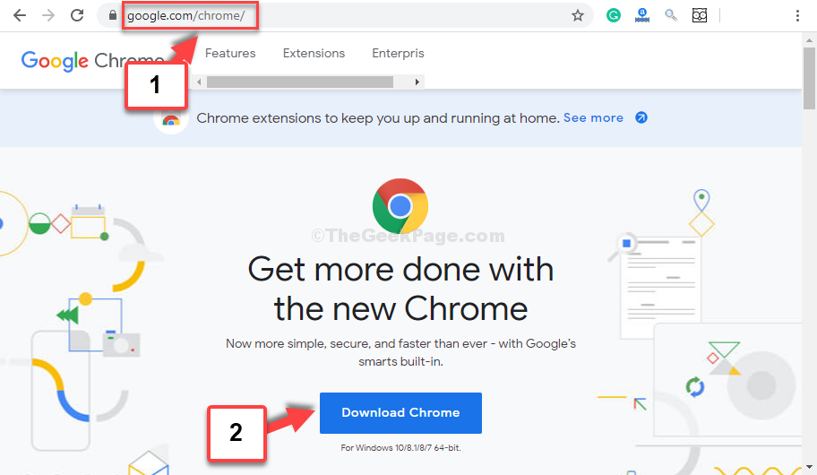 Browser Type Chrome Address Enter Download