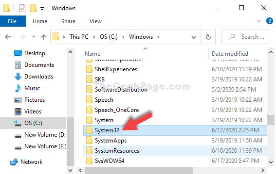 C Drive Windows System 32