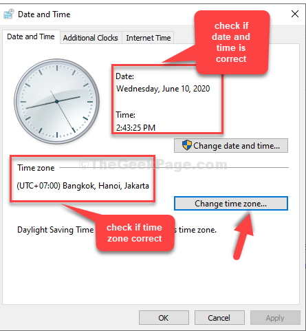 Check If Date And Time Correct If Time Zone Correct Change Time Zone
