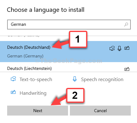 Choose A Language To Install German Next