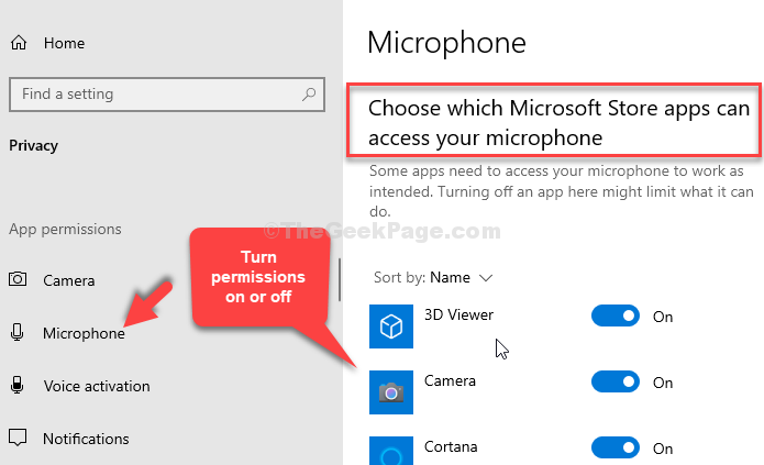Choose Which Microsoft Store Apps Can Access Your Microphone Turn Permissions On Or Off