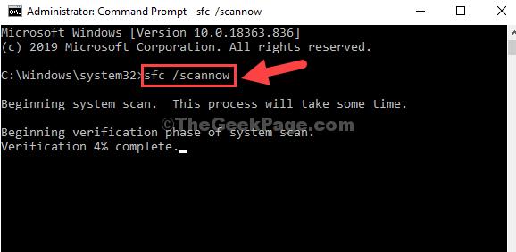 Command Prompt Admin Mode Sfc Scannow Enter