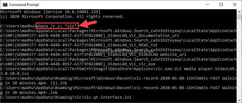 Command Prompt Run Command To Search For Files Enter