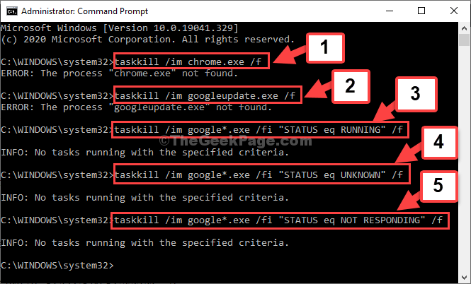 Command Prompt Admin Mode Run Command One By One Enter Each Time