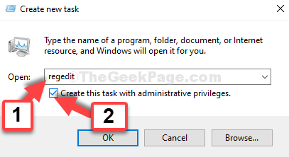 Create New Task Regedit Cretae This Task With Administrative Privileges Check