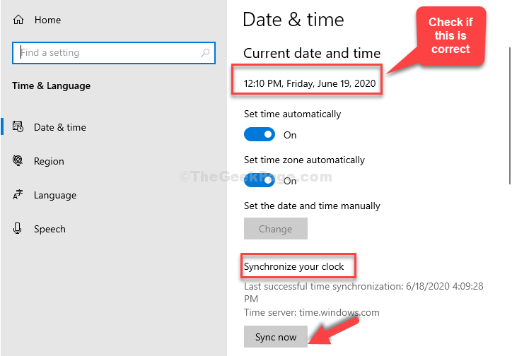 Date & Time Check If Correct Synchronize Your Clock Sync Now