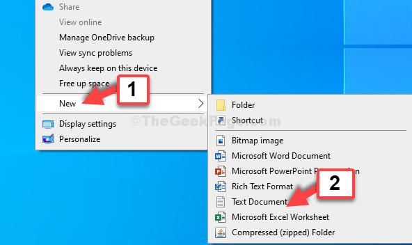 Desktop Right Click New Text Document