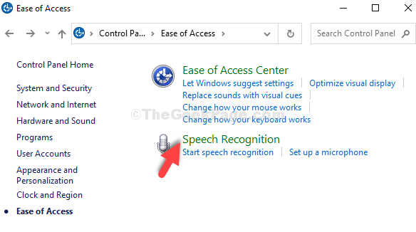 Ease Of Access Speech Recognition