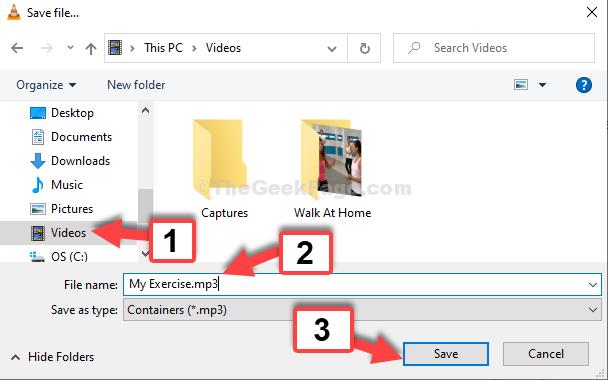 File Explorer Videos File Name .mp3 Save