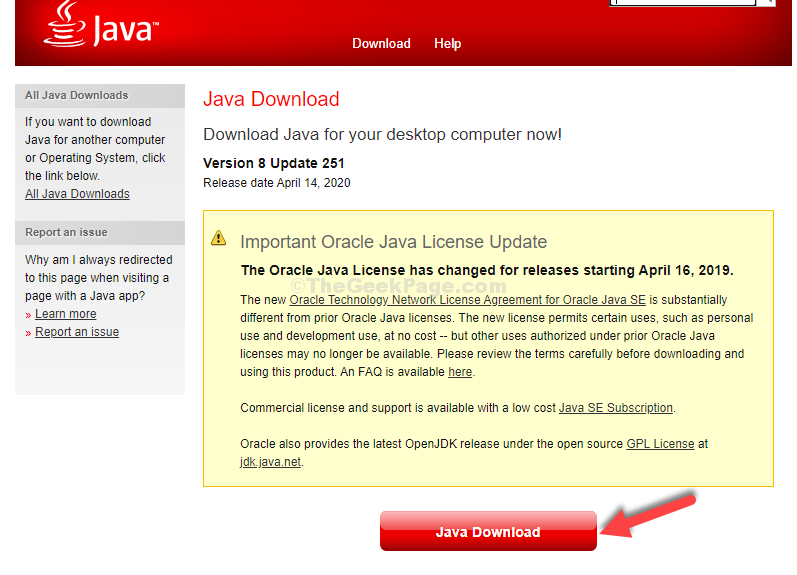 Java Download Page Download
