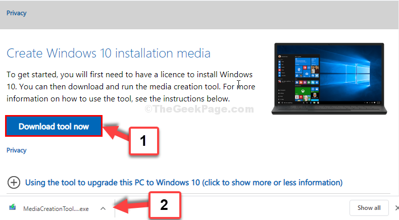 Microsoft Download Page Download Tool Now Set Up File