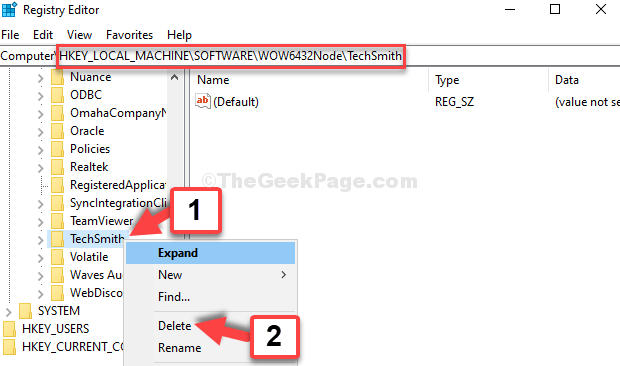 Navigate To Wow6432node Find Program Right Click Delete