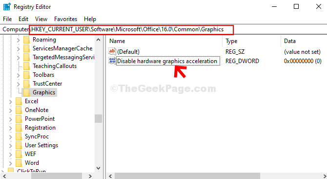 Navigate To The Path Based On Office Version Double Click On The Dword (32 Bit) Value