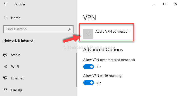 Plus Sign Add A Vpn Connection