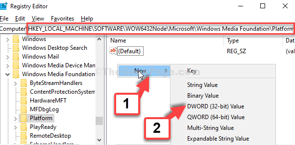 Registry Editor Navigate To The Path Right Side Right Click On Empty Area New Dwprd (32 Bit) Value