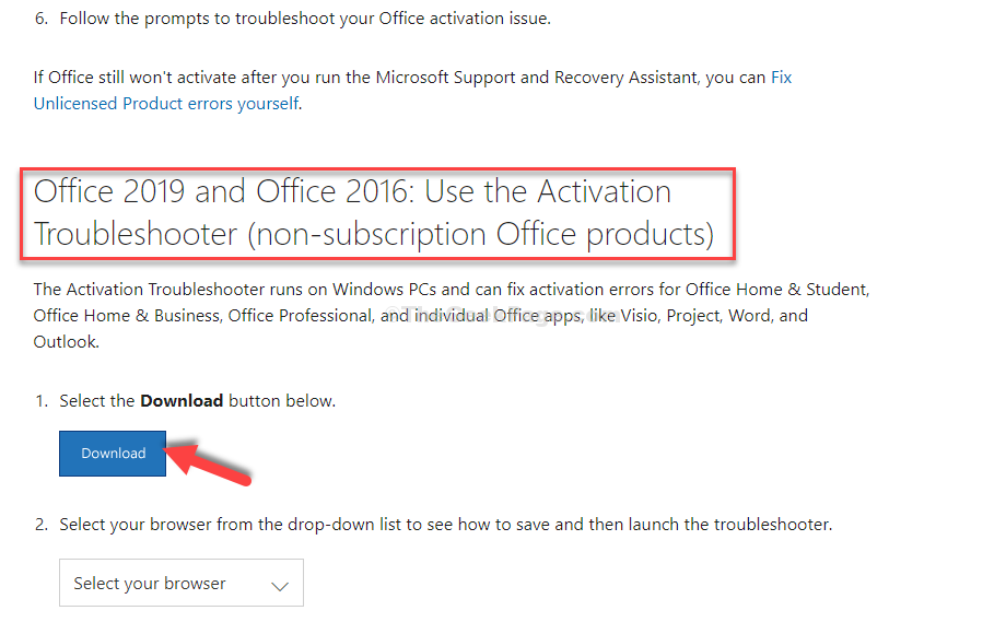 Scroll Down Select The Office Version You Are Using Download