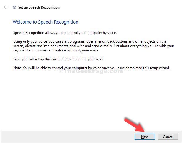 Set Up Speech Recognition Next