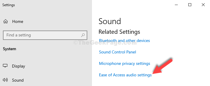 Settings Right Side Related Settings Ease Of Access Audio Settings