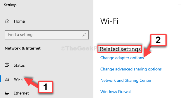 Setttings Wifi Related Settings Change Adapter Options