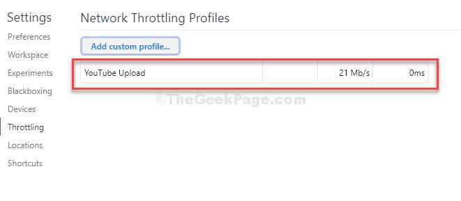Succefully Created Custom Profile