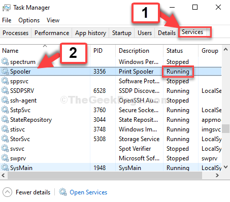 Task Manager Services Tab Spooler Status Running