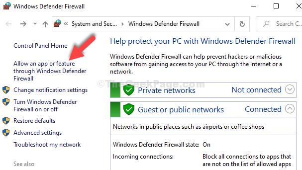 Windows Defender Firewall Window Allow An App Or Feature Through Windows Defender Firewall