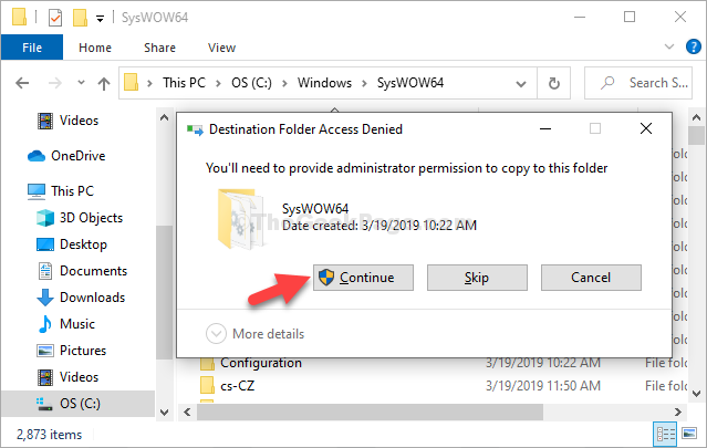 C Drive Windows Syswow64 Paste Continue