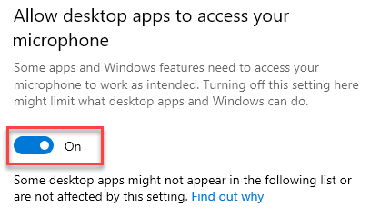 Allow Desktop Apps To Access On Min Min