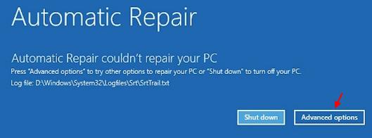 Automatic Repair Advanced Options Min