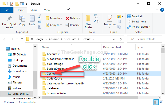 Cache Double Click
