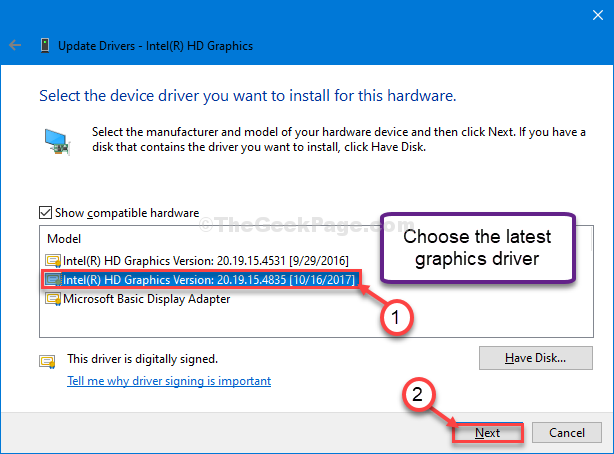 Choose The Latest Driver