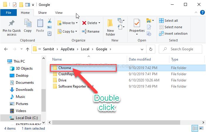 Chrome Double Click