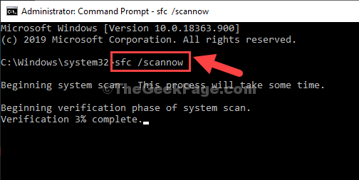 Command Prompt Admin Mode Sfc Scannow Enter