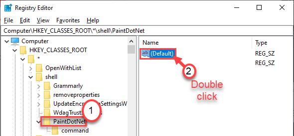 Default Double Click Min
