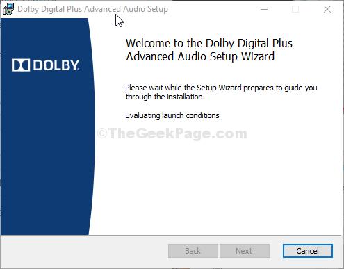 Dolby Setup
