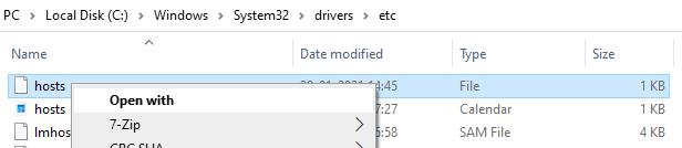 Hosts File Edit