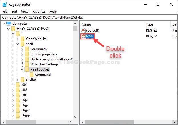 Icon Double Click