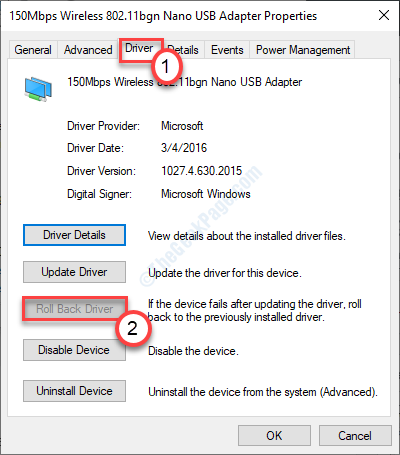 Roll Back Network Driver